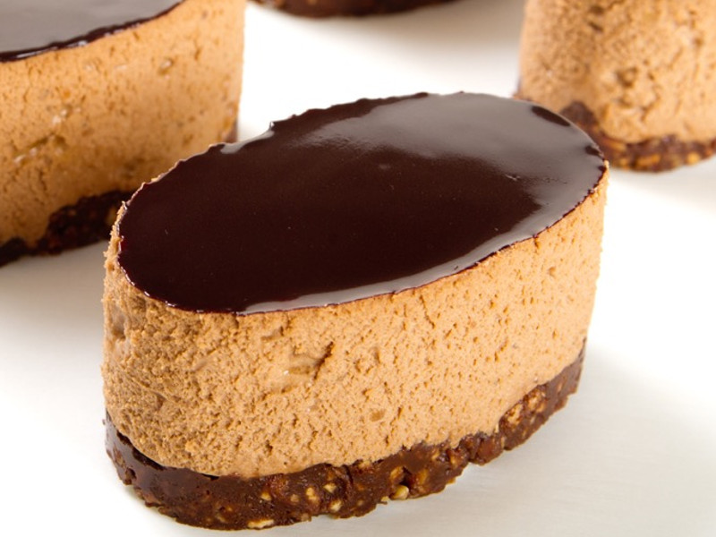 Chocolate Praline Mousse with a Nut Base