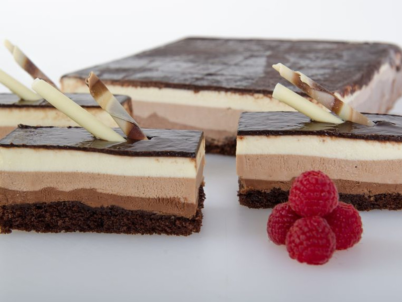 Triple Chocolate Mousse Slab