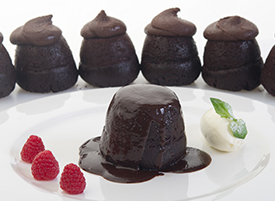 Chocolate Pudding with Sauce