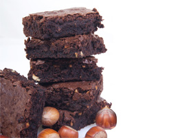 Chocolate & Hazelnut Brownie Dessert Squares <span>Gluten Free Flour - Box of 24</span>