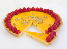 White Chocolate & Lemon Curd Tart