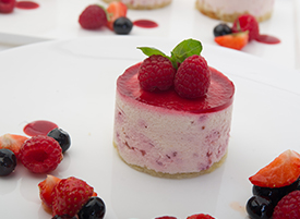 White Chocolate & Raspberry Mousse <span> Individual</span>