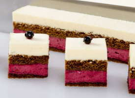 Blackcurrant Mousse with Vanilla & Ginger