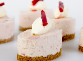 Strawberry, Rhubarb & Vanilla Cheesecake